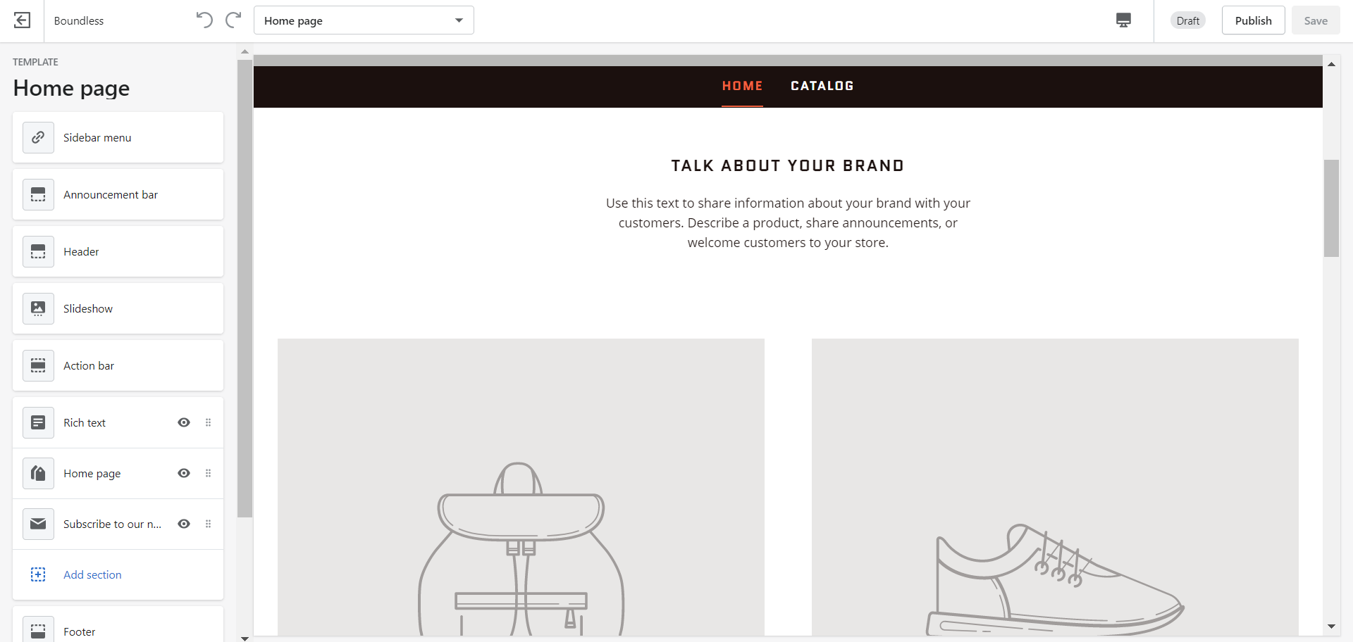 Customize themes on Shopify