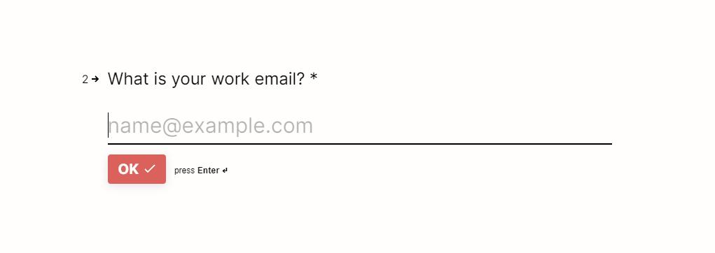 Enter work email address