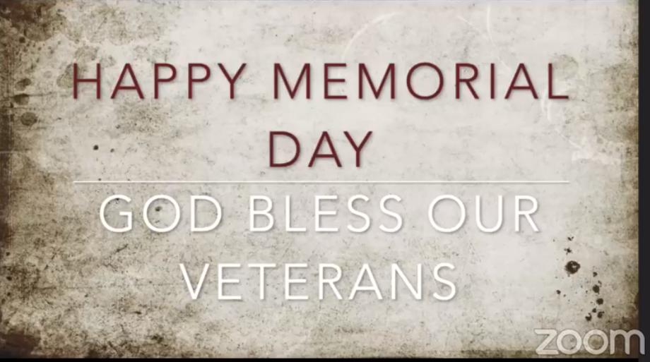 Memorial Day Worship 2021 11:00 AM