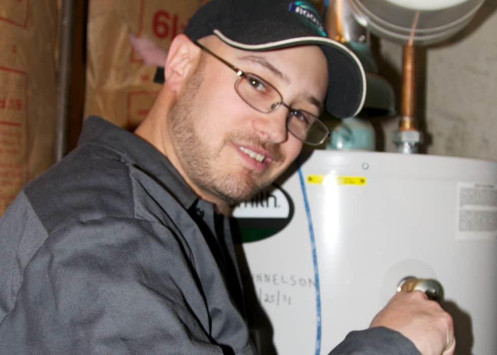 Aspen Mountain Plumbing owner Lance Ball during his early years of plumbing.