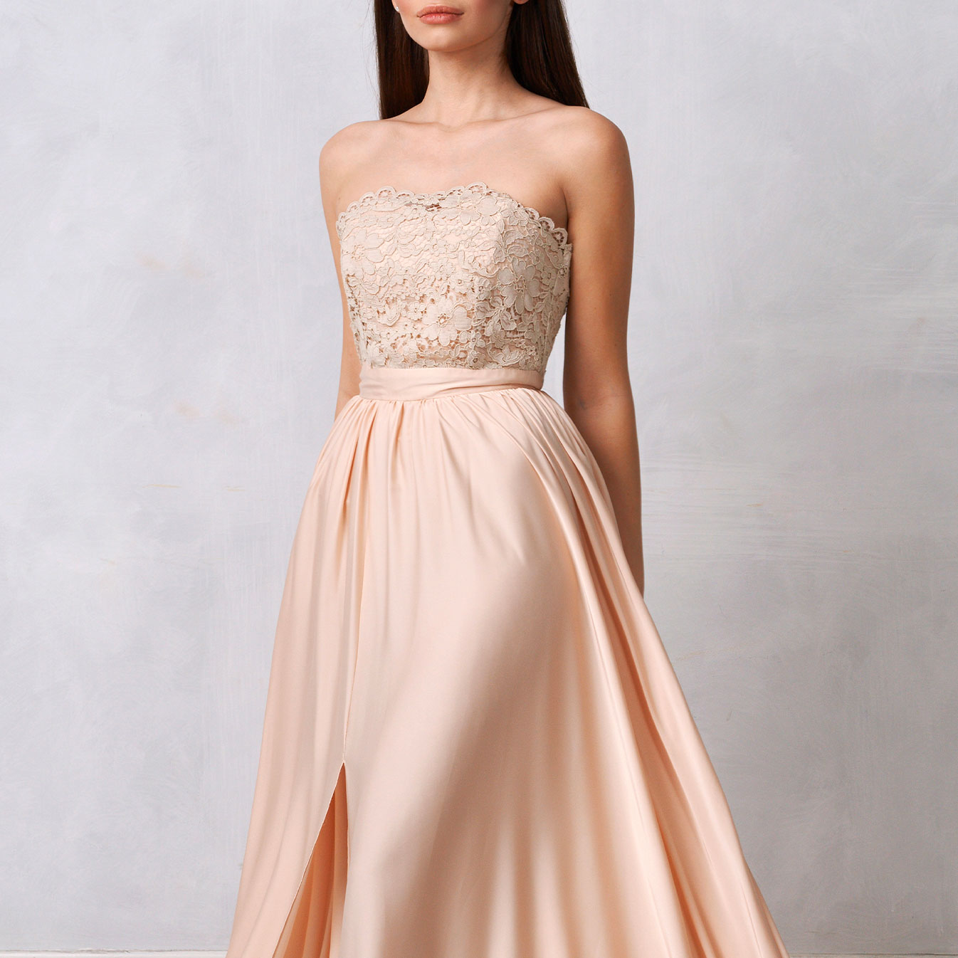 A beautiful dress that is altered to fit to perfection.