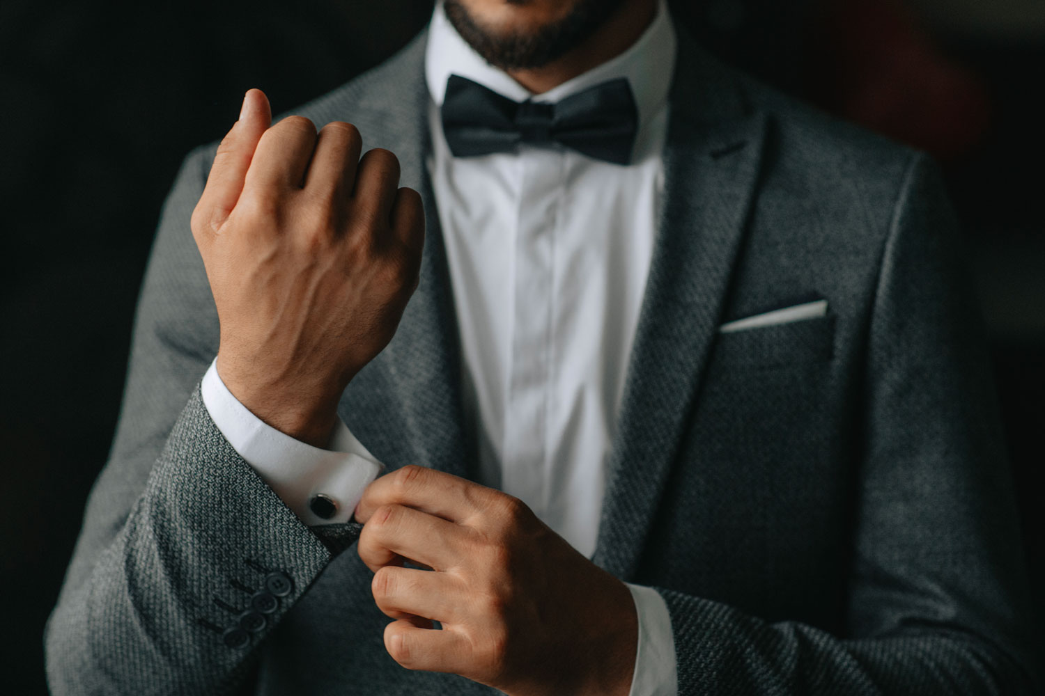 A man with a stunning tuxedo.