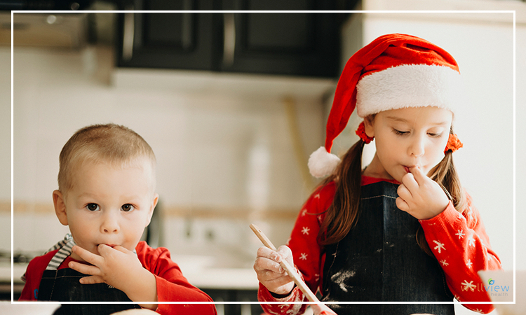 making christmas brownies is an activity families love.