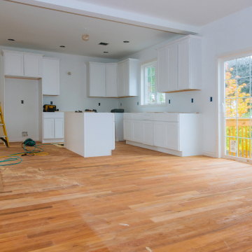 kitchen being remodeled after home inspection