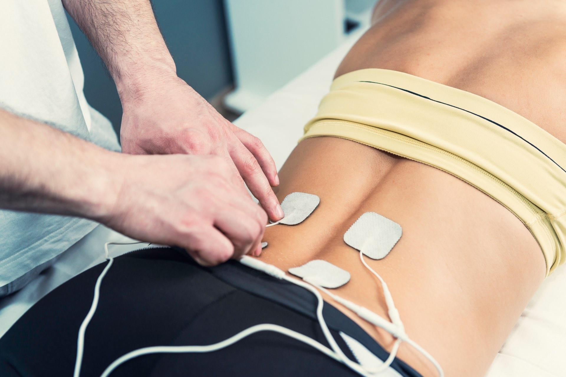 Bioelektrsiche Impulse am Rücken