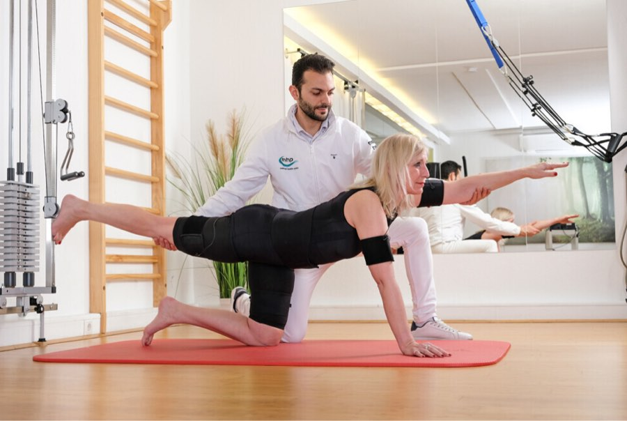 Krankengymnastik im Physiotherapiezentrum von Medical Health Point