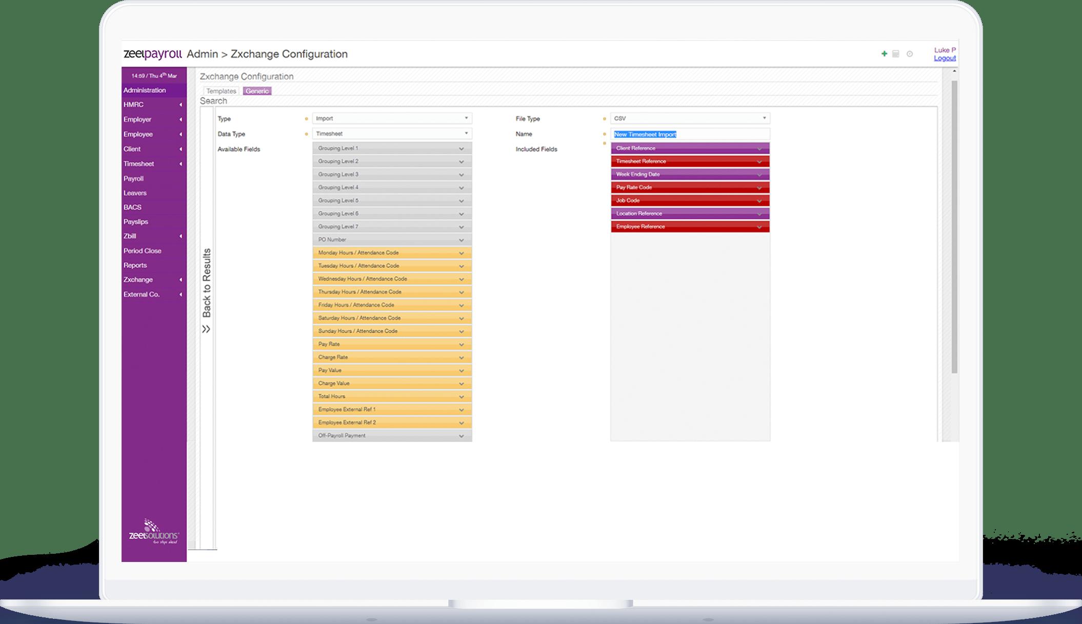 Recruitment payroll software dashboard