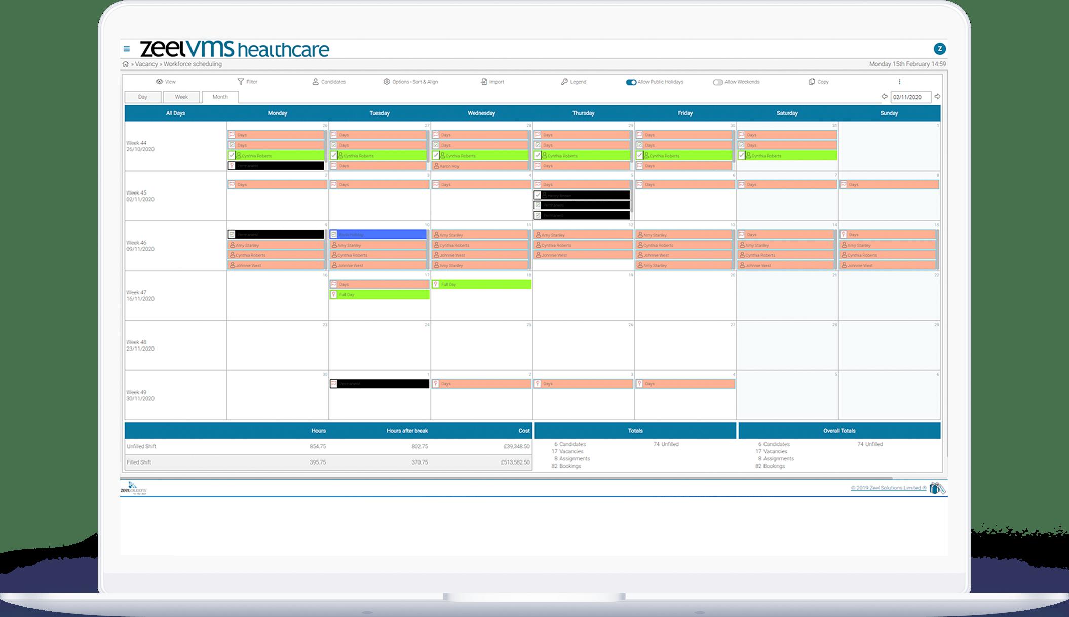 Workforce scheduling Healthcare VMS