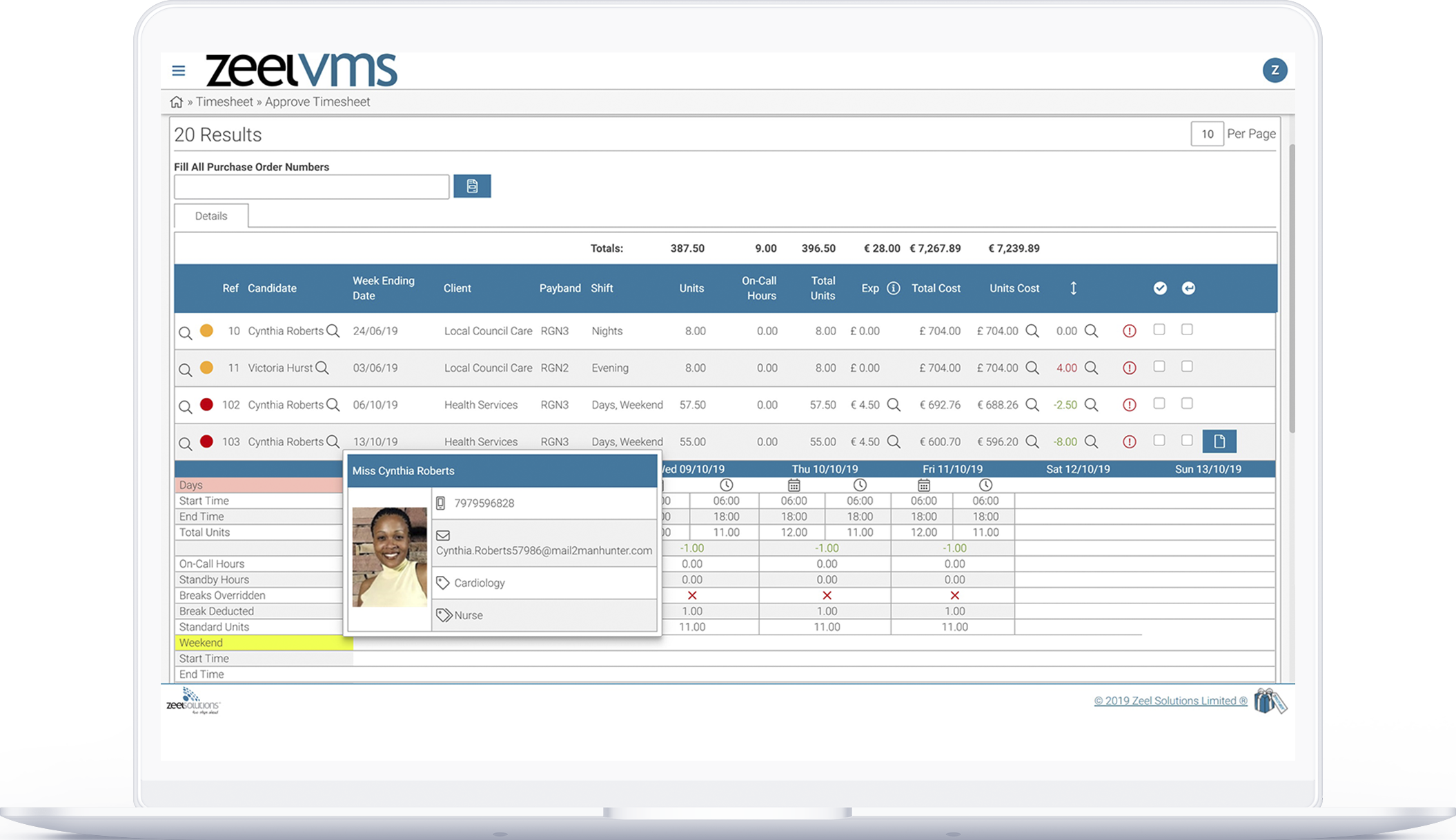 Warehouse VMS approval dashboard