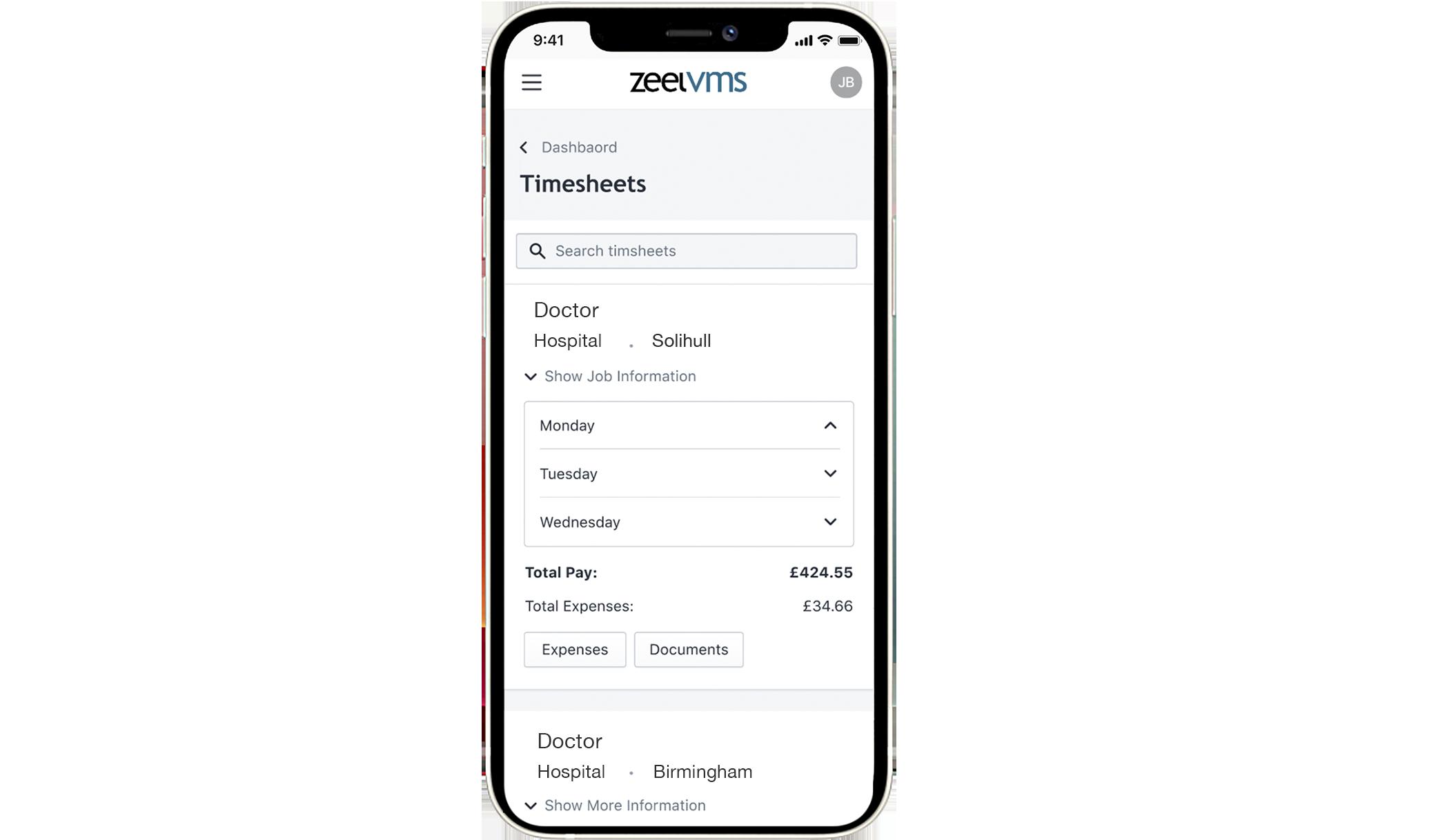 zeel solutions VMS mobile