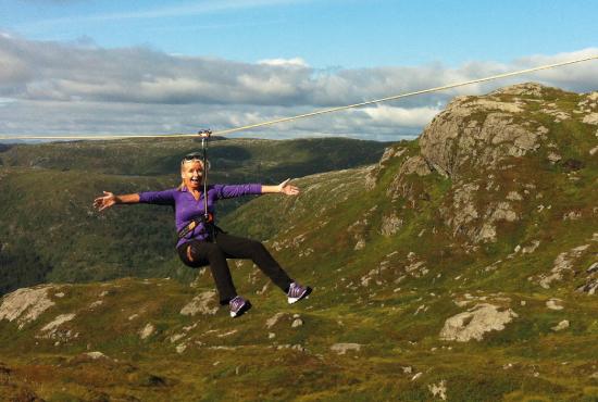 Zipline on Mt. Ulriken