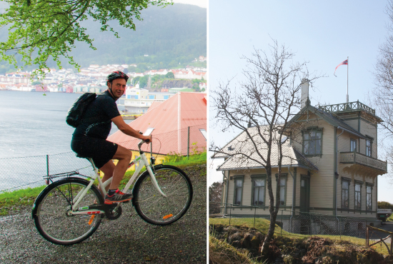 Biking and Grieg Concert