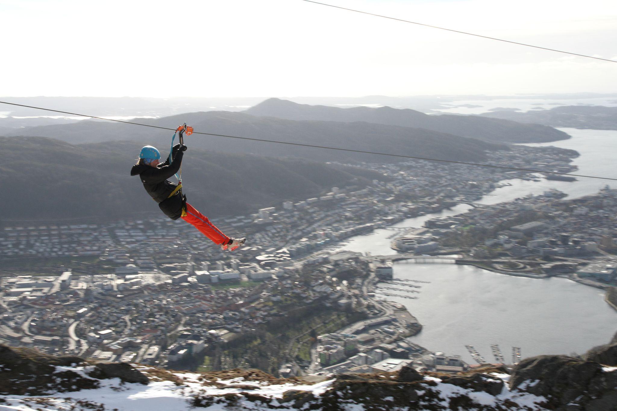 The fastest zipline in Norway