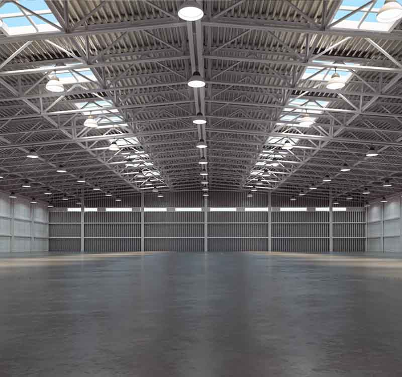 Bill Glick Disinfecting Image showing the Inside of a Industrial Warehouse for Industrial Disinfecting Services.