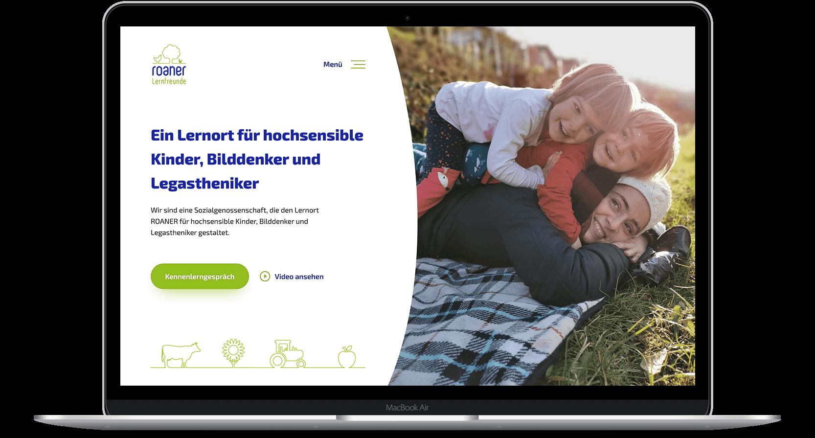 website-auf-macbook