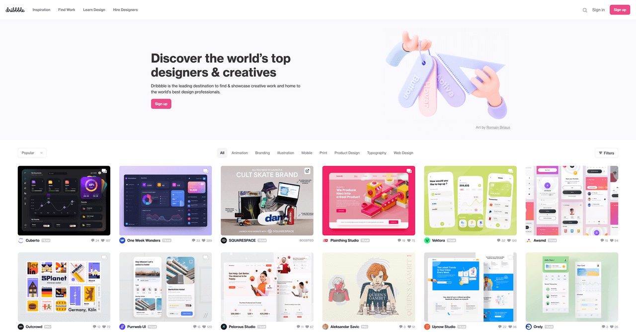dribble-website-screenshot