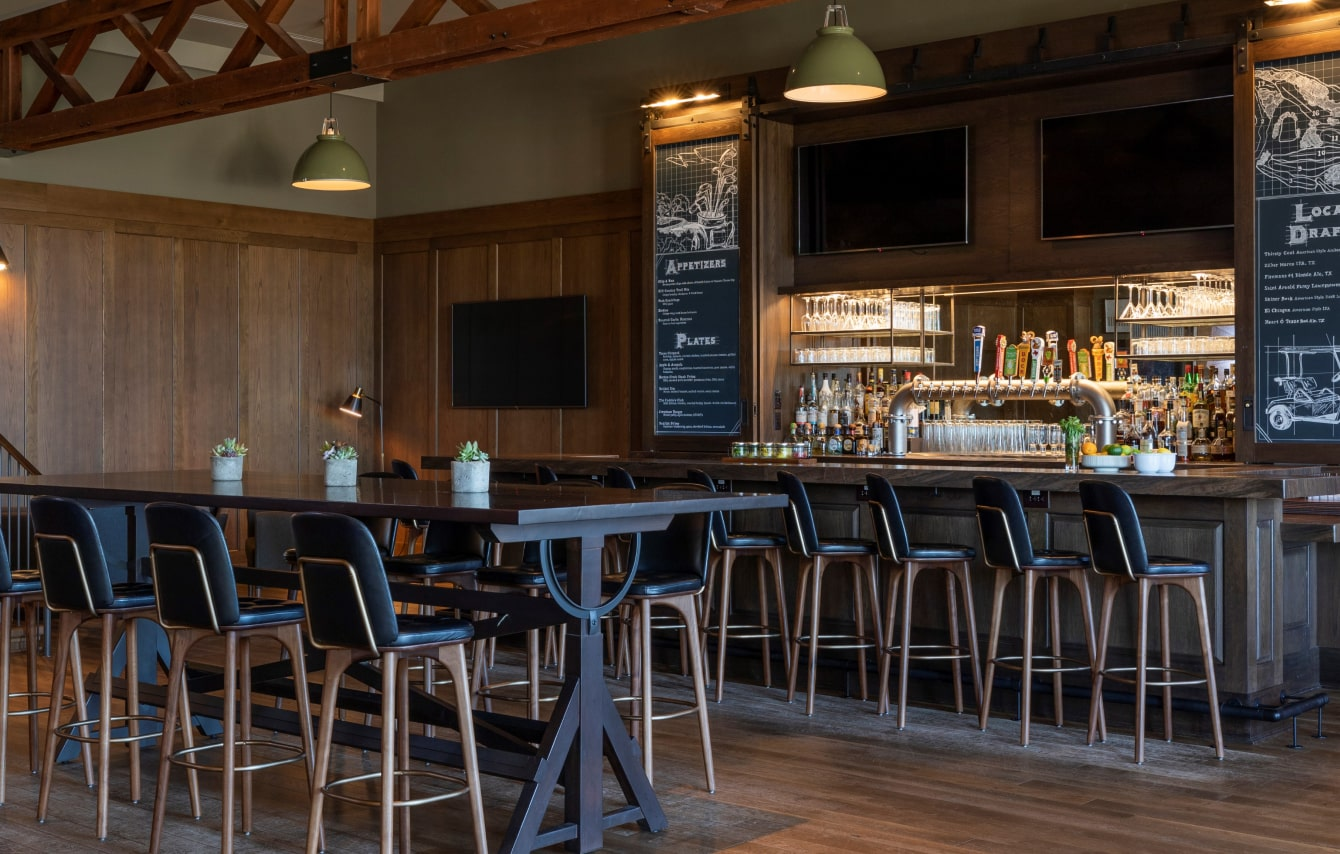 Indoor bar interior design at Omni Barton Creek in Austin, Texas