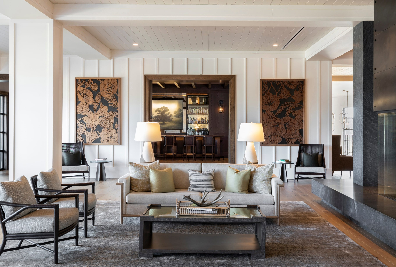 Main lounge area with fireplace at Omni Barton Creek in Austin, Texas