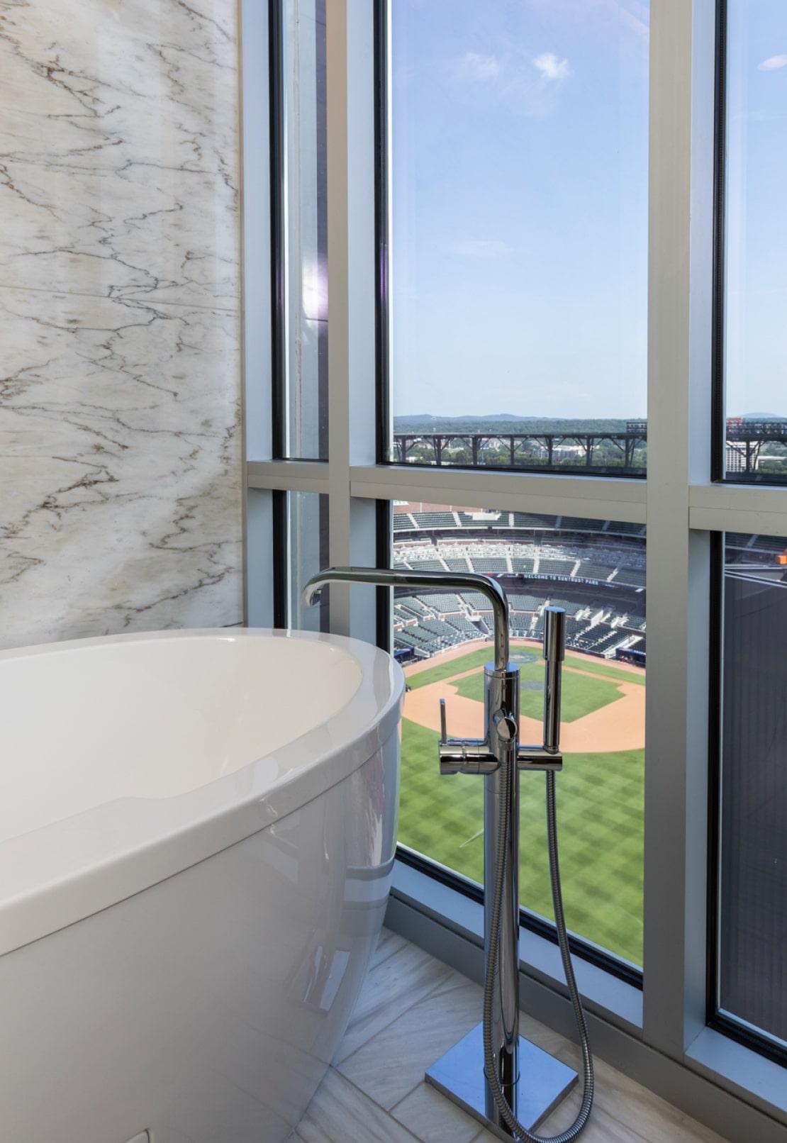 View of Atlanta Braves baseball stadium