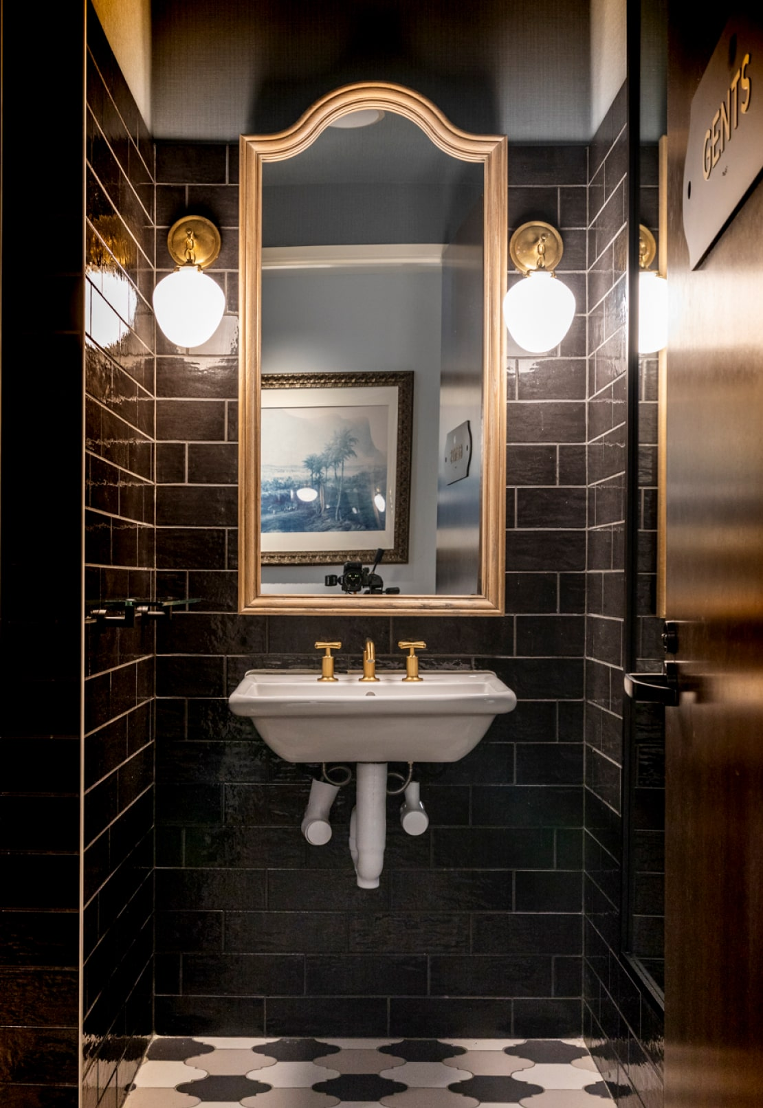 Bathroom interior design at the Atlanta Restaurant