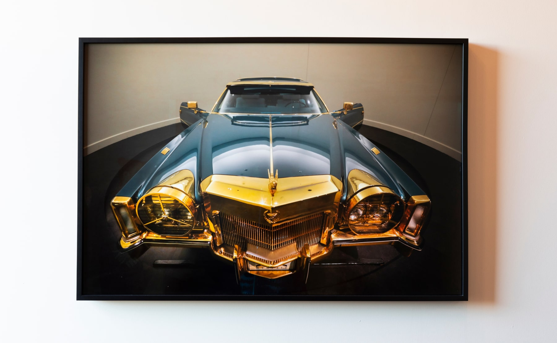 Lobby artwork of a classic car photograph at The Central Station