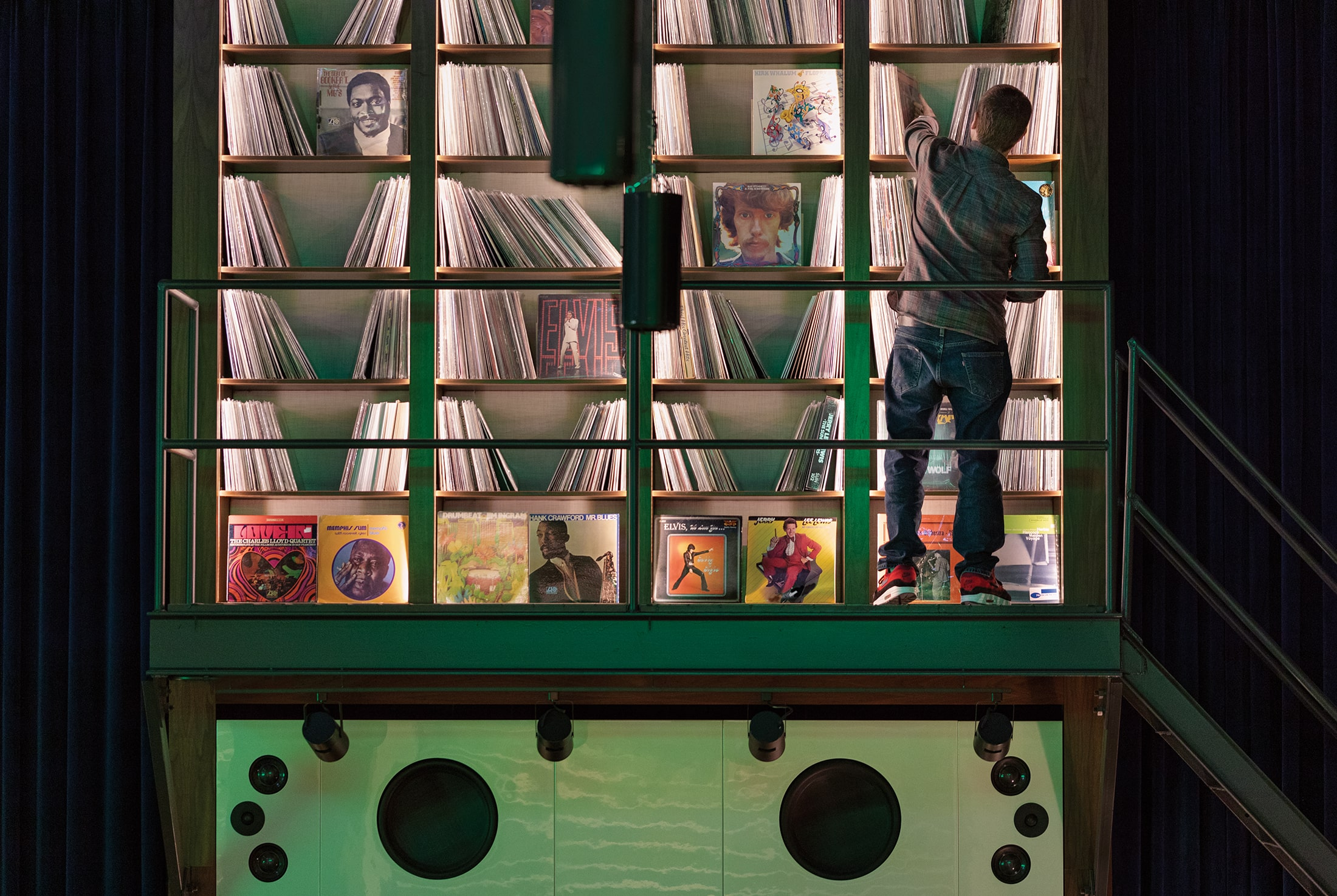 Indoor record collection at The Central Station