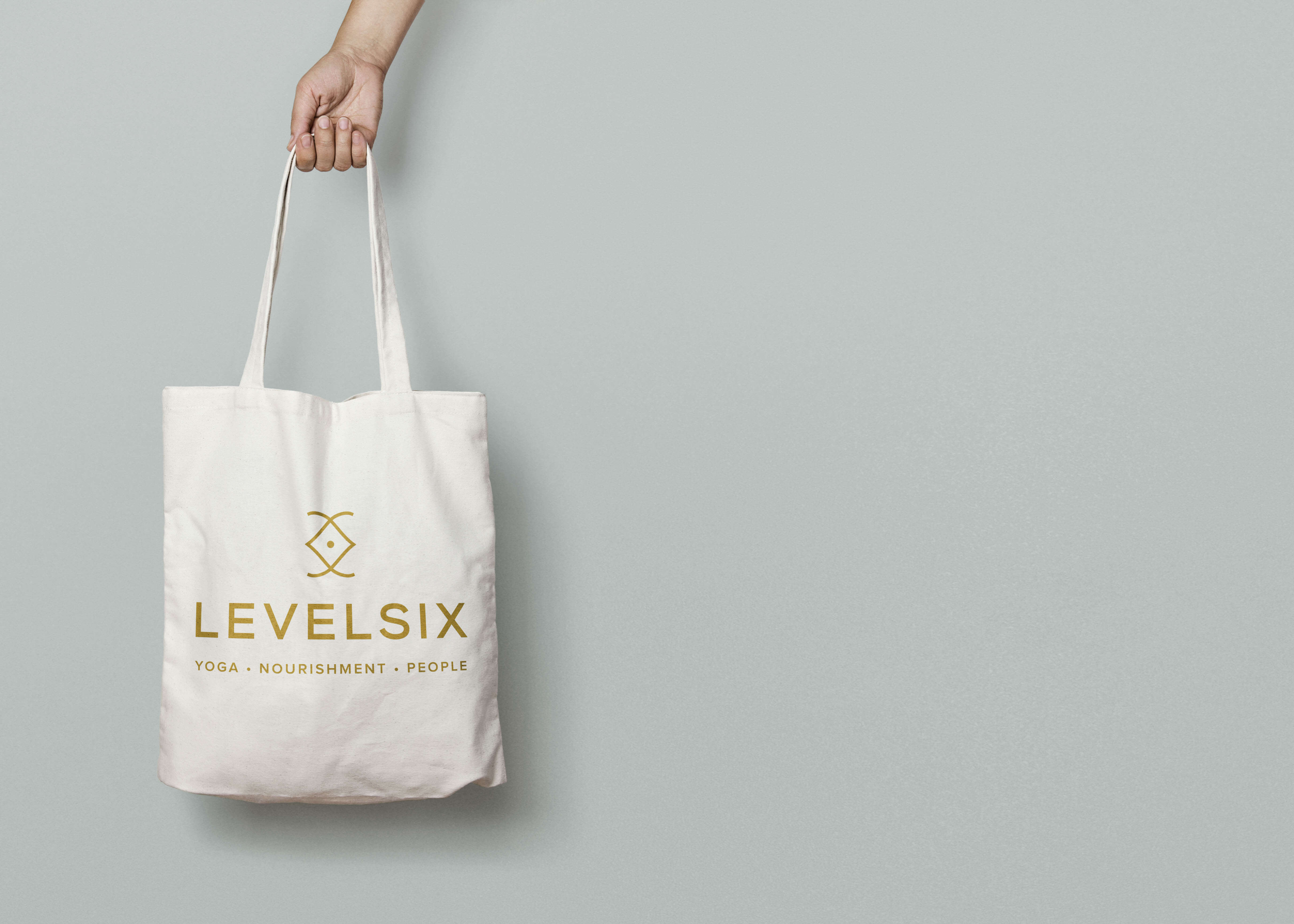 Canvas Bag with Level Six Branding
