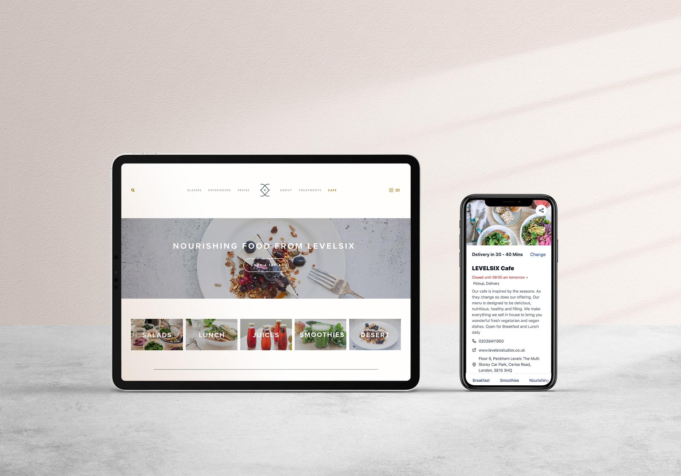 Level Six Cafe website