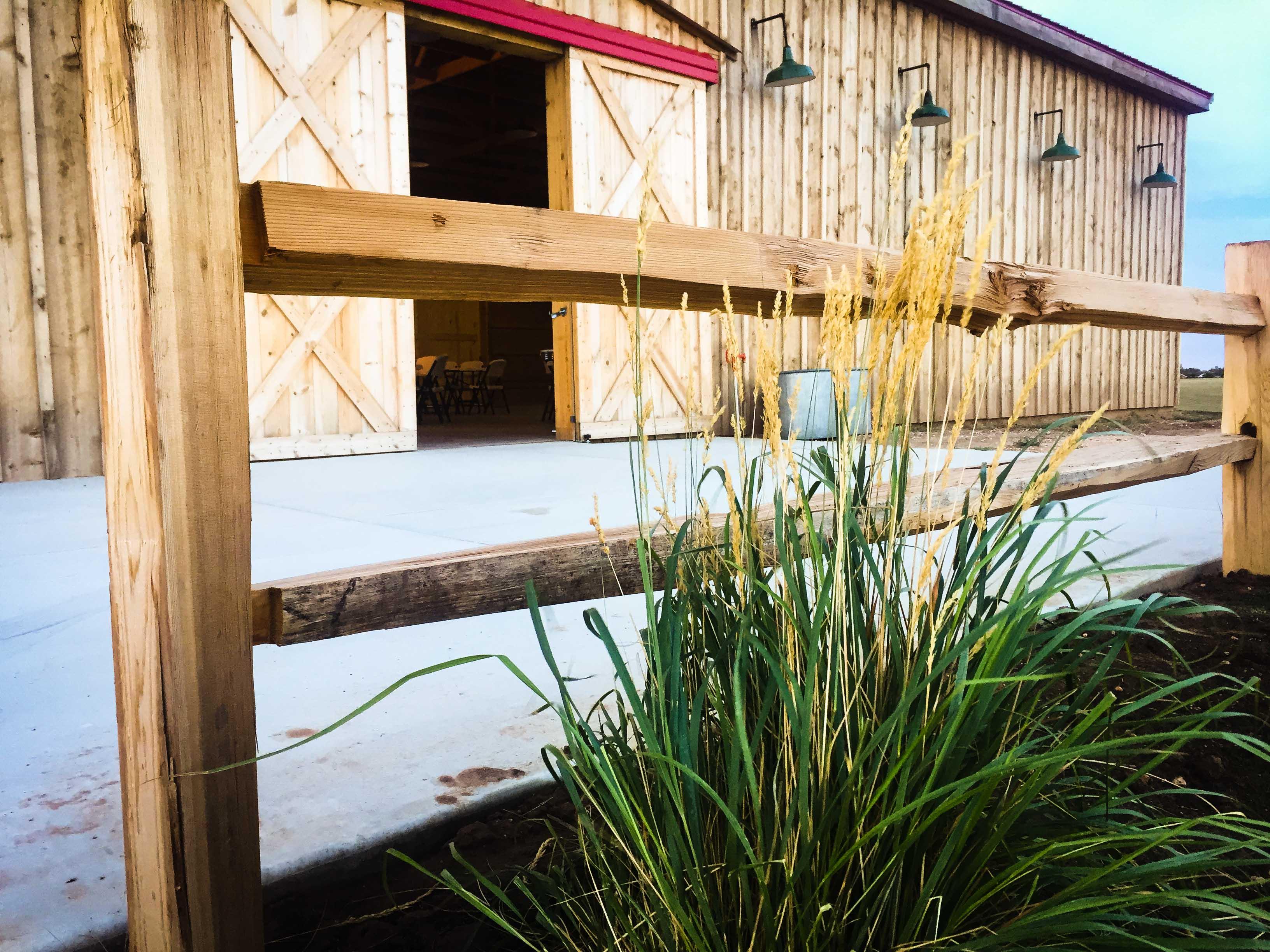 Barn Doors and Grass