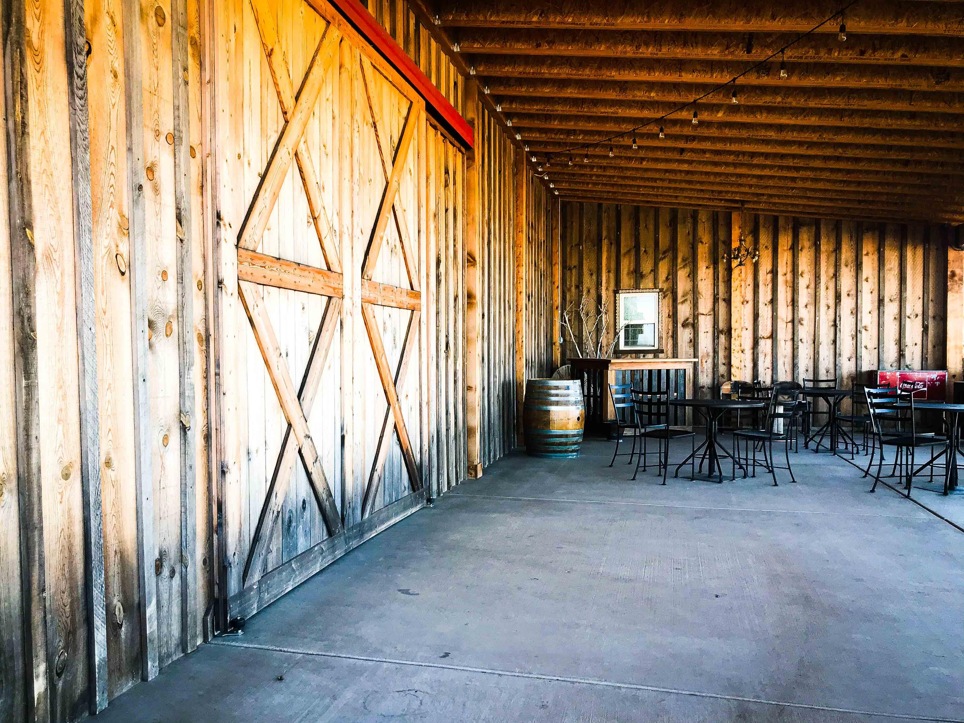 Barn Doors Back Porch