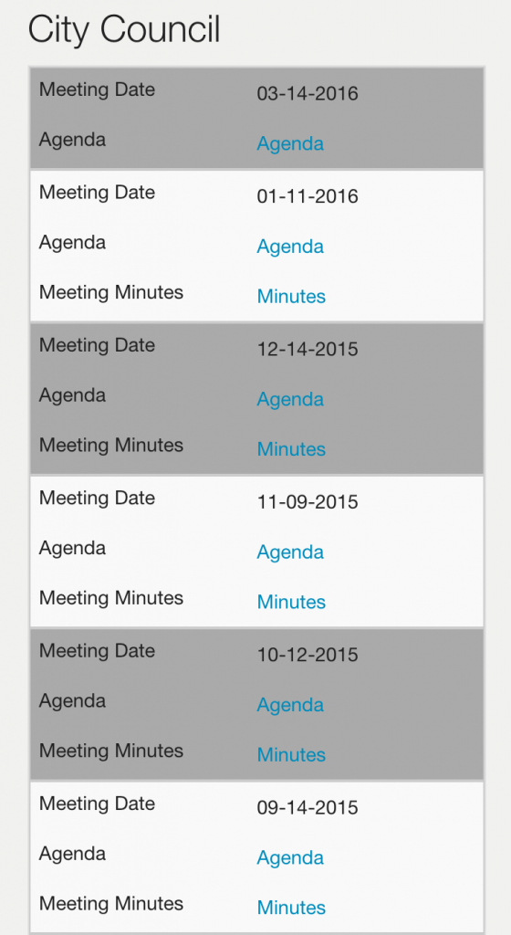 Responsive Table Design for the Meeting Repository