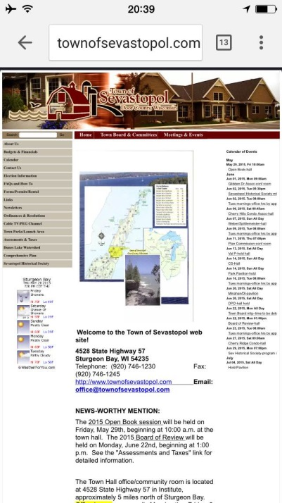Here's an example of a static website as it appears on a mobile.