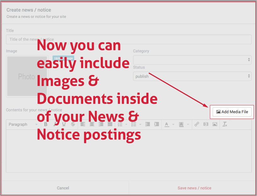 include attachments in notices
