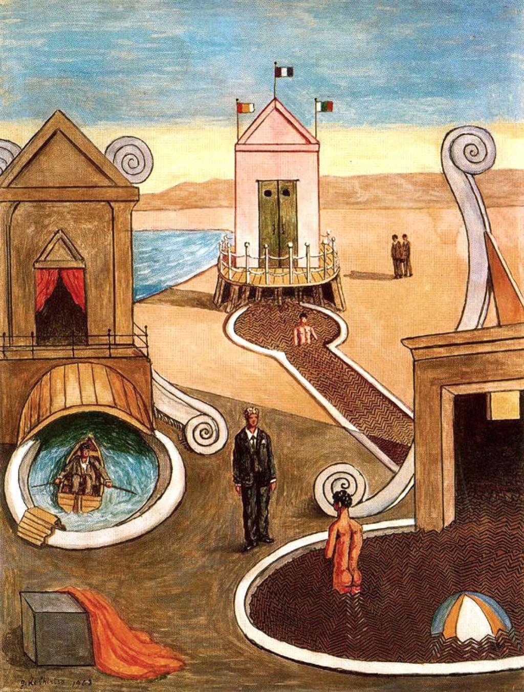 Giorgio de Chirico, Bagni Misteriosi - 1968