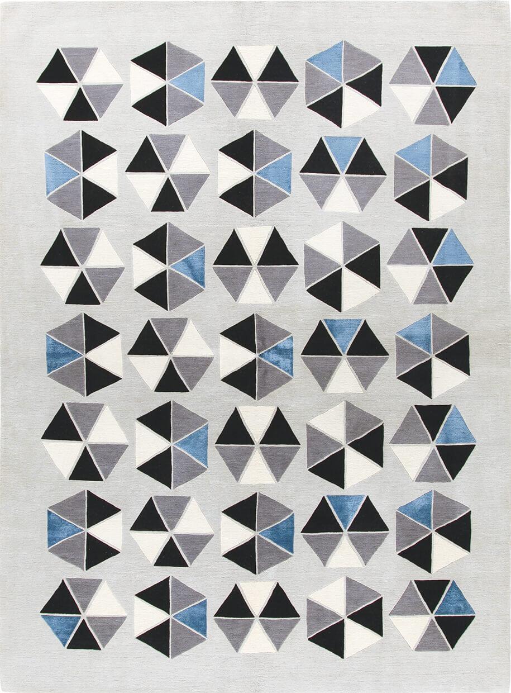 Tappeto Esagoni, disegnato da Gio Ponti, Amini Carpets - Foto: Amini.it