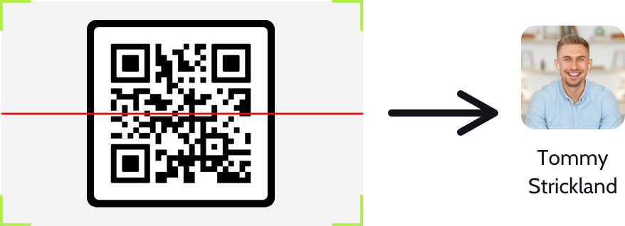 Use a barcode to get anyone's contactlink