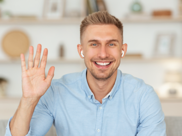 Image, Man waving