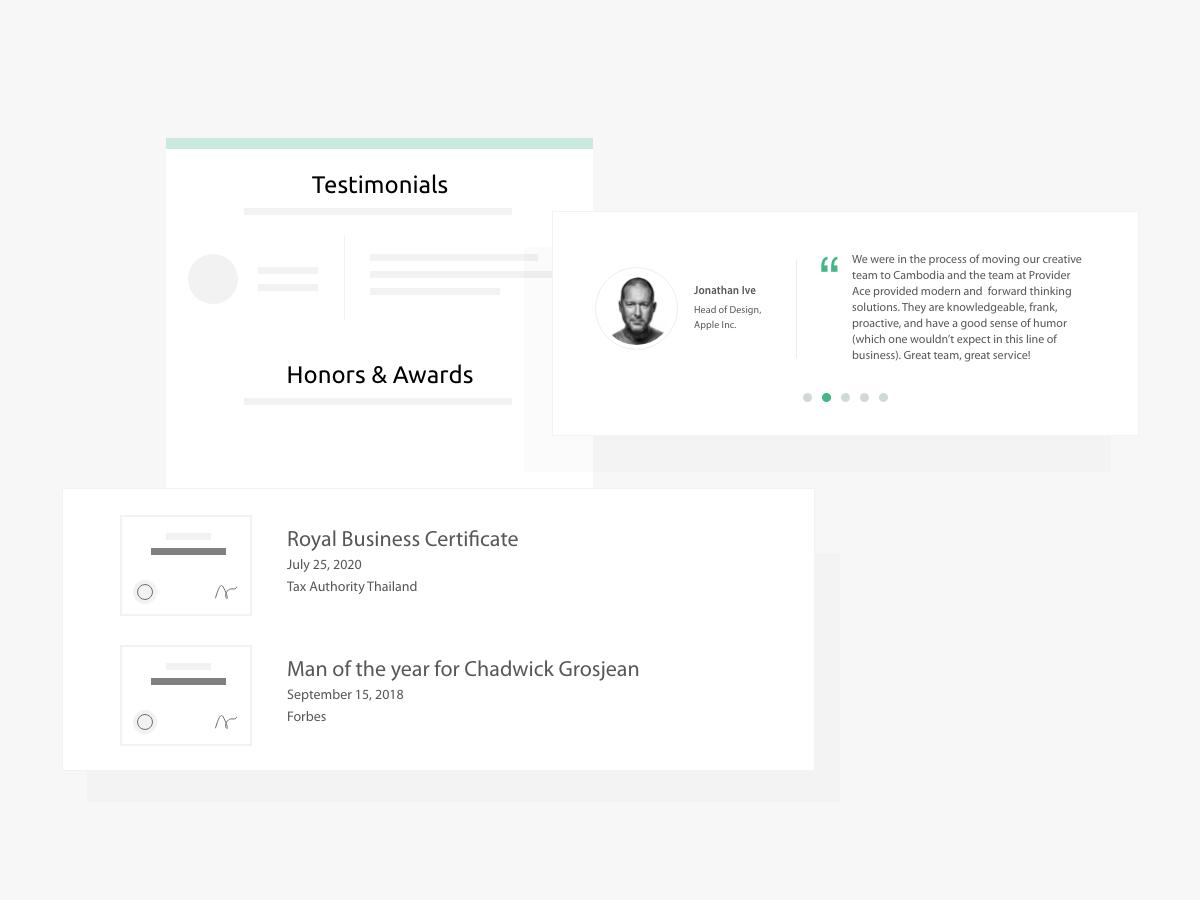 Service Provider Profile - Slide 4