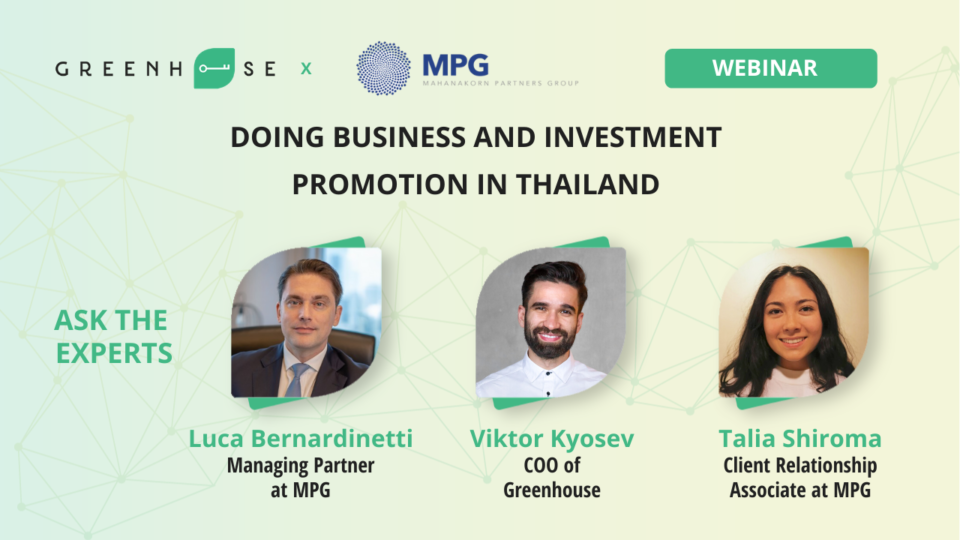 Doing Business and Investment Promotion in Thailand