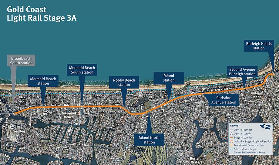 Gold Coast Train Map