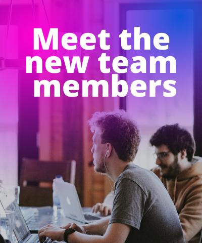Meet the new team members