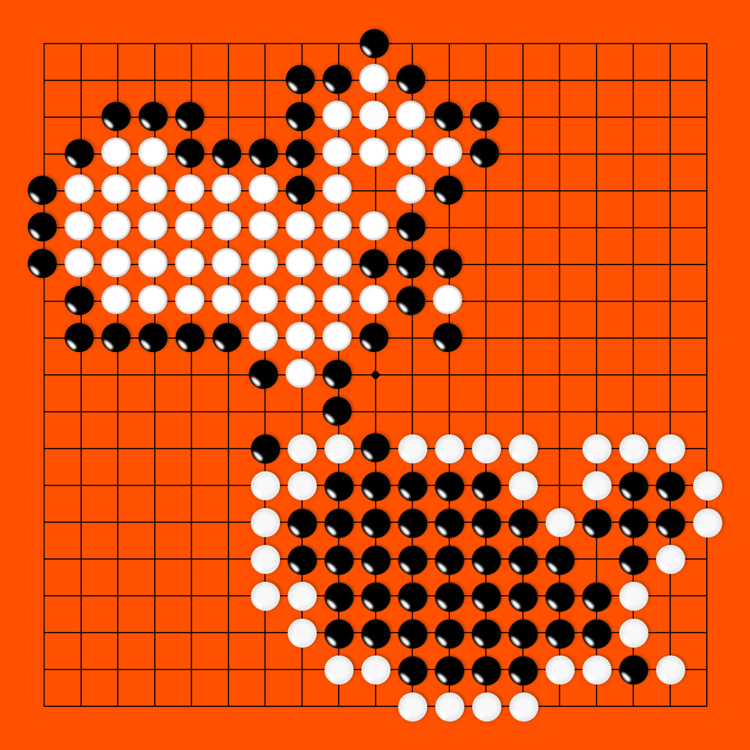 """A """"Go"""" board, also known as """"Chinese Chess,"""" symbolizes the strategic competition and interdependence of the U.S.-China relationship."""