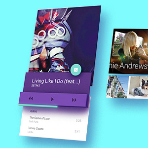 A music playing app using Material Design