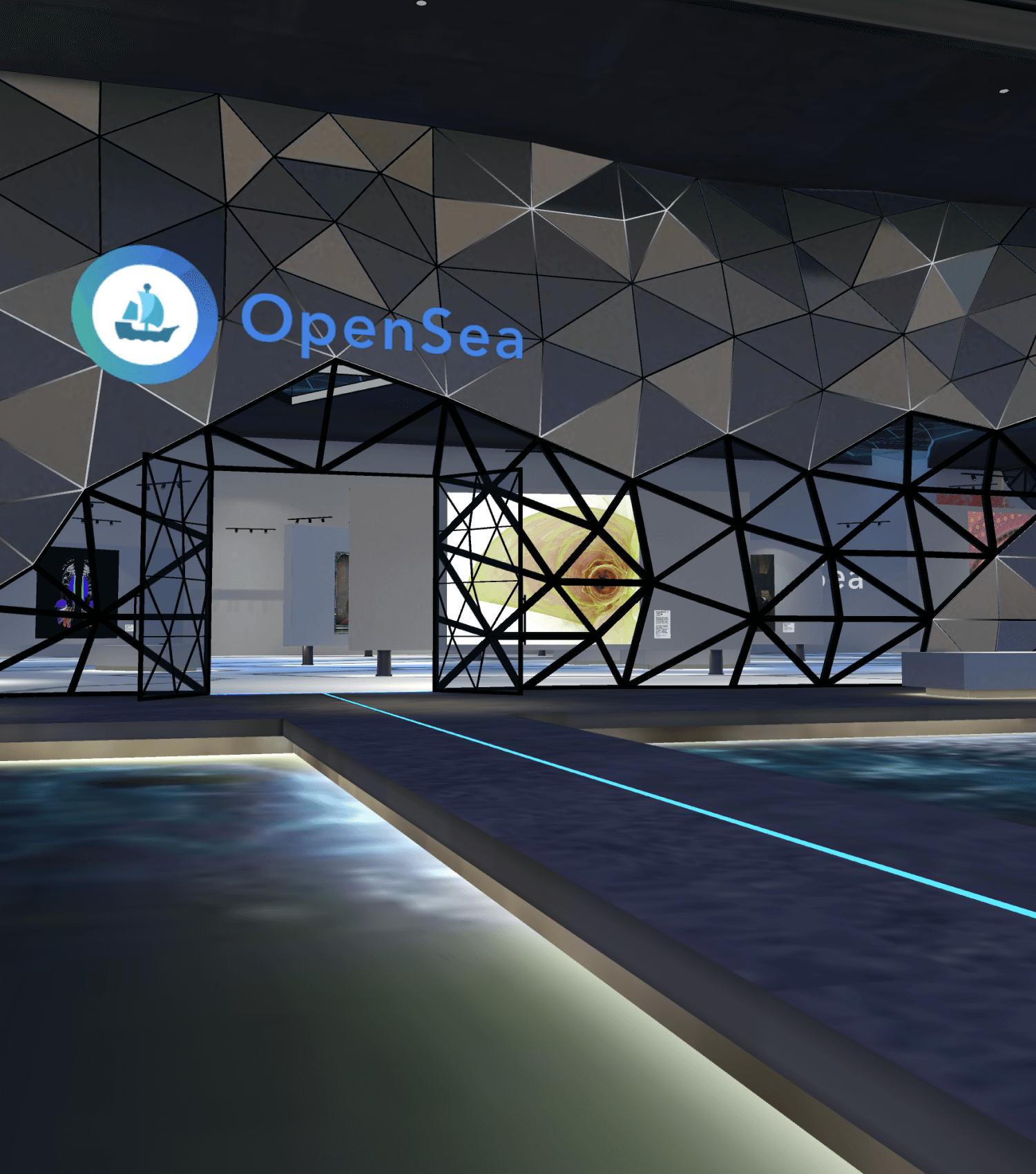 OpenSea NFT Gallery in Spatial