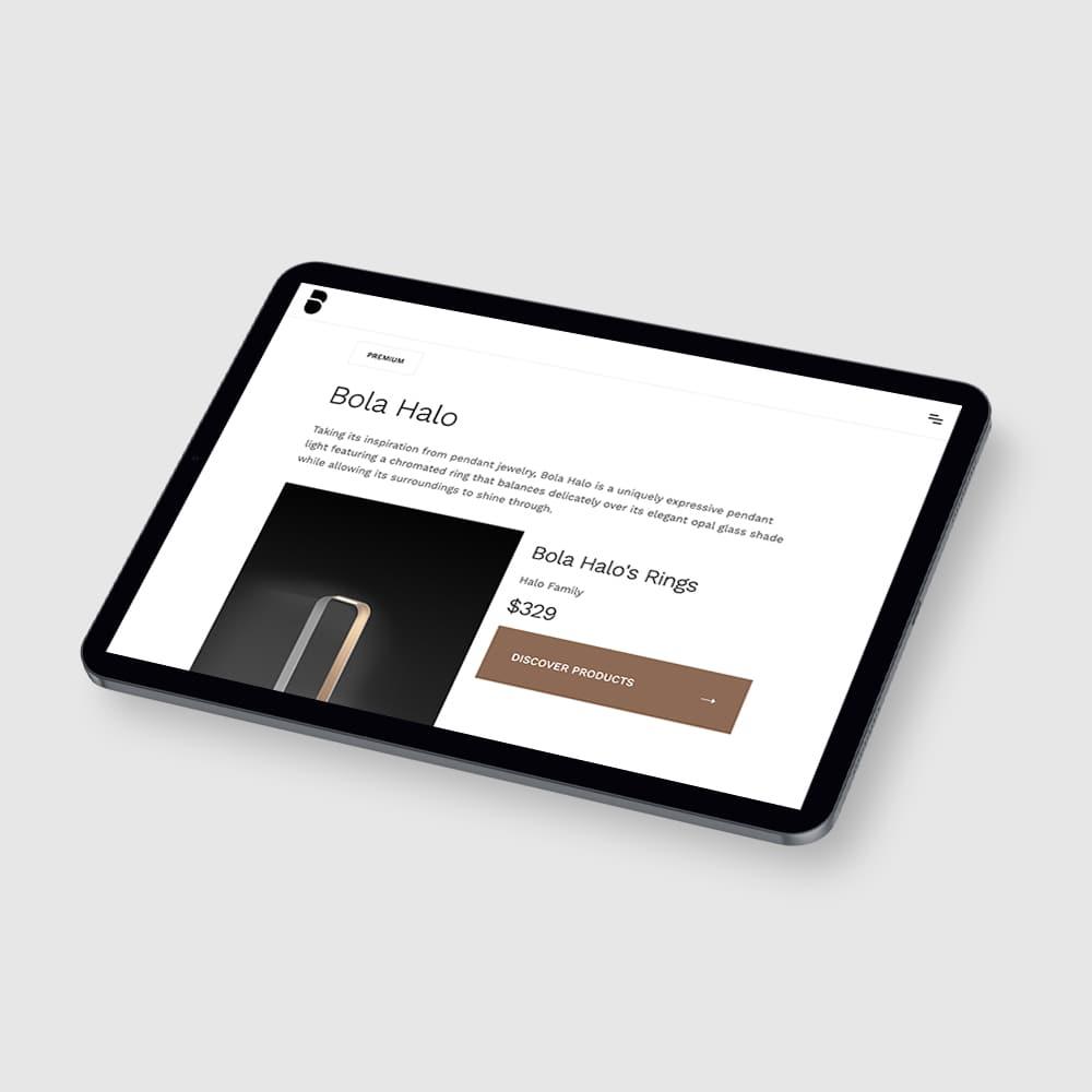 Tablet responsive design webpage