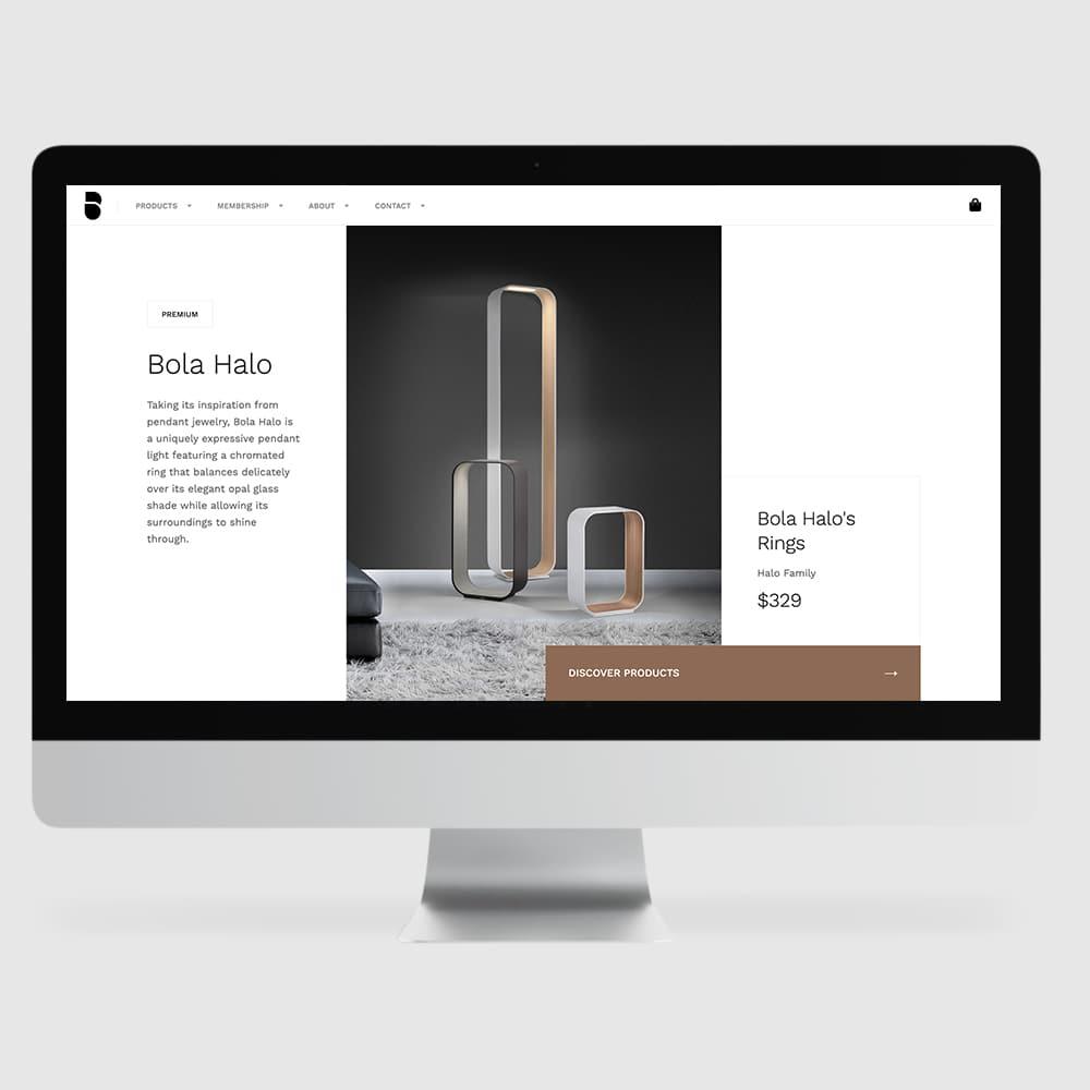 Desktop responsive design webpage