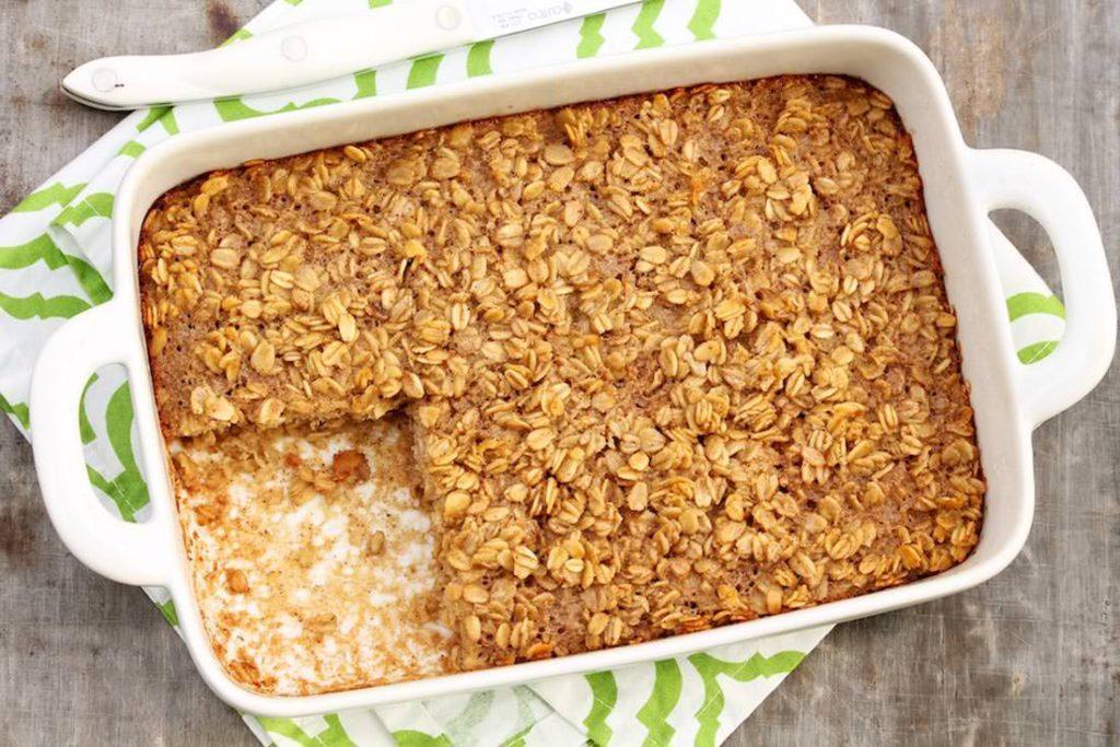 Macro Monday Recipe Banana Peanut Butter Baked Oatmeal IIFYM