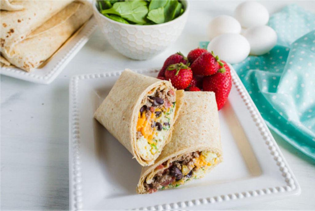 CrossFit Soda City Macro Monday Recipe Healthy Breakfast Burritos IIFYM
