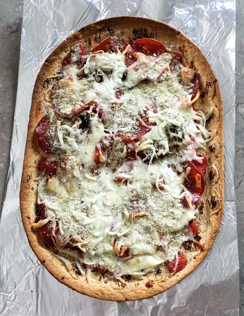 CrossFit Soda City Macro Monday Recipe Protein Flatbread Pizza