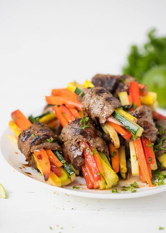 CrossFit Soda City Macro Monday Recipe - Steak & Veggie Roll-ups